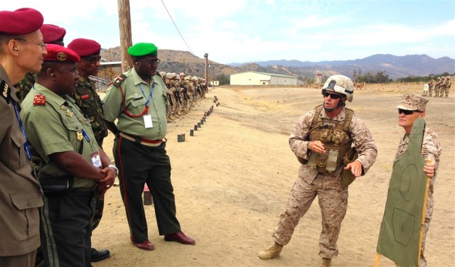 U.S. Marines offer training to a group of African military officers at Camp Pendleton in California By AFRICOM, August 13 2014, http://www.africom.mil/newsroom/photo/23480/united-states-africa-command-image